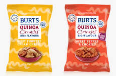 Superfood Snack Chips - The Burts Chips Quinoa Crinkles are a Healthy Chip Alternative