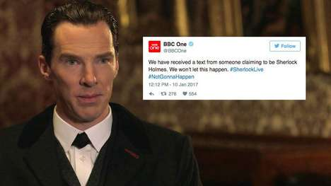 Live Mystery Campaigns - The BBC's Sherlock Live Allows Fans to Solve a Mystery Using Twitter