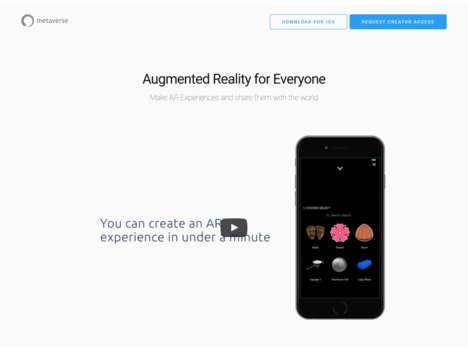 AR Experience-Creating Apps - The Metaverse App Allows Anyone to Create Their Own AR Content