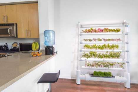 Hydroponic Gardening Appliances - The OPCOM Farm Gardening Systems Debuted at CES 2017