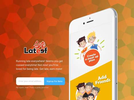 Virtual Friend Meet-Up Apps - The 'LateLateef' Mobile App Helps Users Organize Friend Meetups