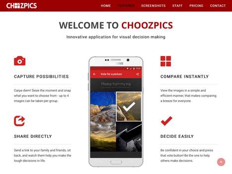 Crowdsourced Photo Decision Apps - The 'ChoozPics' Social Photo App Lets Users Compare Pics