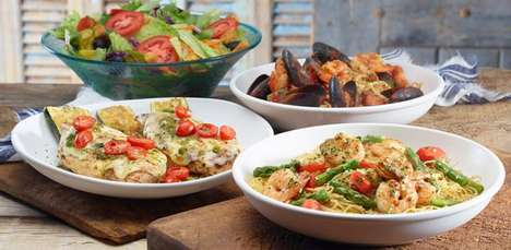 Calorie-Specific Restaurant Menus - The Olive Garden 'Tastes of the Mediterranean' Menu is Healthier
