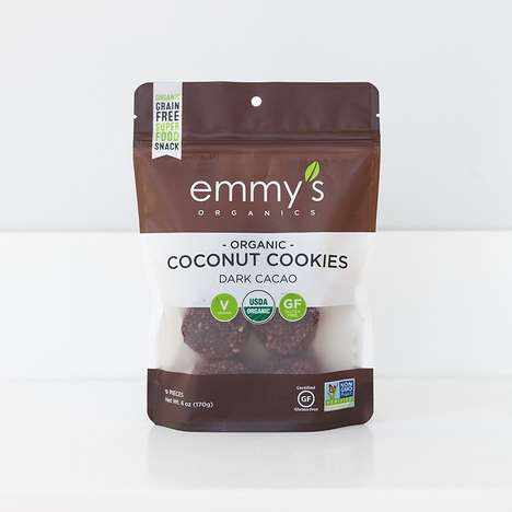 Organic Cacao Coconut Bites - The Emmy's Organic Dark Cacao Coconut Cookies are Paleo-Friendly
