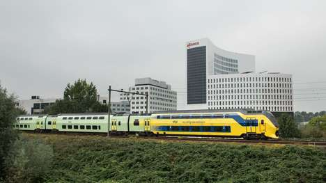 Wind-Powered Commuter Trains - The Nederlandse Spoorwegen Passenger Trains will be Emission-Free
