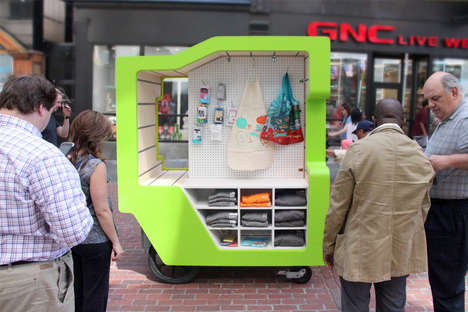 Modernized Street Vendor Kiosks - The 'MŪV' Retail Cart is Contemporary and Functional
