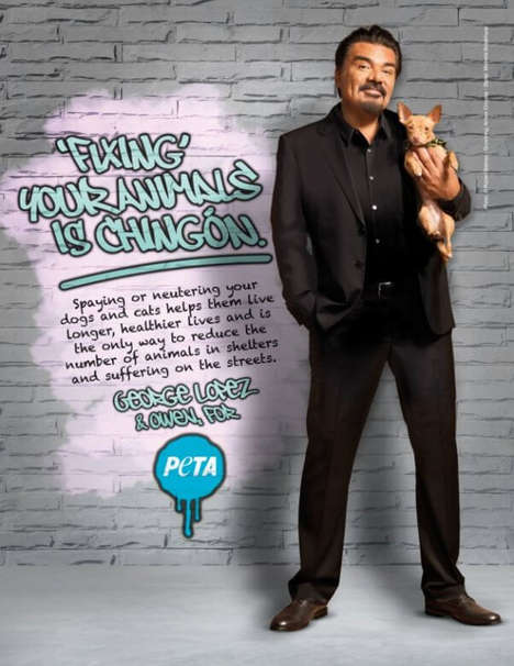 Celebrity Pet-Neutering Campaigns - George Lopez Wants to Reduce the Number of Animals in Shelters