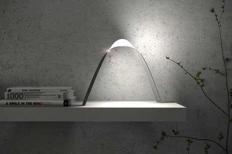 Twisting OLED Illuminators - The 'Link' is a Flat Lamp with a Twisted Ribbon Aesthetic
