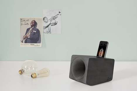 Retro Analog External Speakers - The Louis Smartphone Analog Speaker Requires No Power to Use