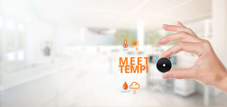 Wearable Temperature Gauges - The Portable Temperature Sensor 'Tempi' Made Its Debut at CES 2017