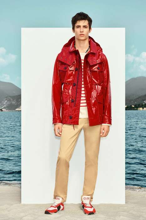 French Luxury Rain Gear - The New Moncler Collection Features Bold Waterproof Pieces