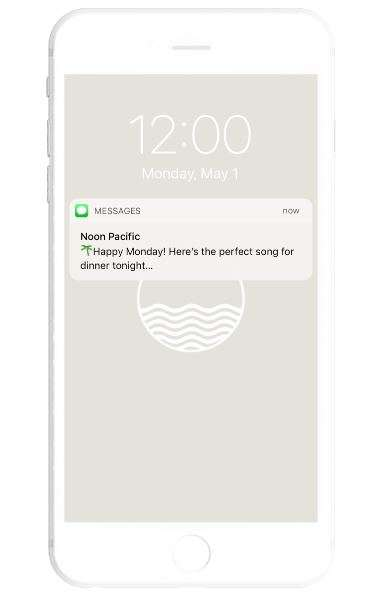 Text-Messaged Music Subscriptions - 'Noon Pacific Daily' Sends Subscribers a Song a Day