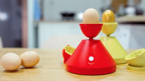 Golden Egg Gadgets - This Unique Kitchen Gadget Turns Egg Whites a Soft Golden Yellow Hue