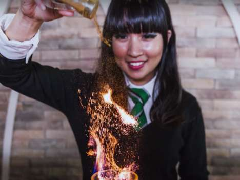 Magical Blazing Beverages - This Harry Potter Cafe in Singapore Serves an Alcoholic Goblet of Fire