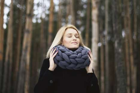 Oversized Knitted Cowls - The Ohhio Macaron Merino Wool Cowl is Superbly Warm and Soft