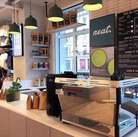 Yoga Store Coffee Bars - The Neat Café is Located Inside lululemon's European Flagship Store