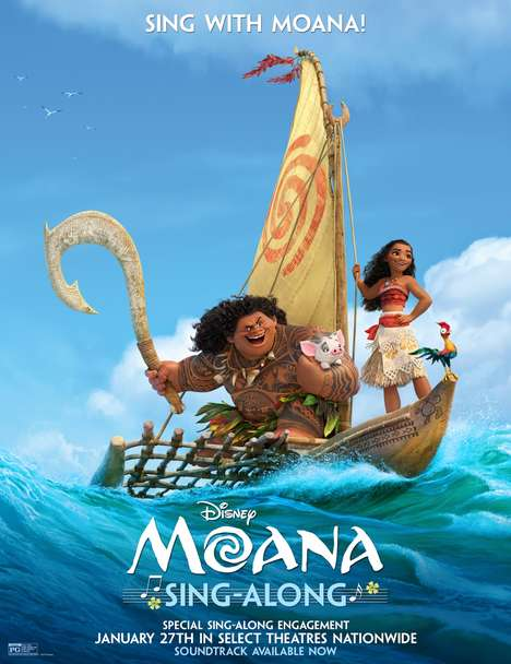 Animated Movie Sing-Alongs - The Moana Sing-Along Version Will Launch in Theaters Nation-Wide