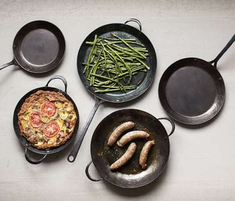 Carbon Steel Cookware - The Blanc Creatives Cookware Collection Has a Rustic, High-Quality Design