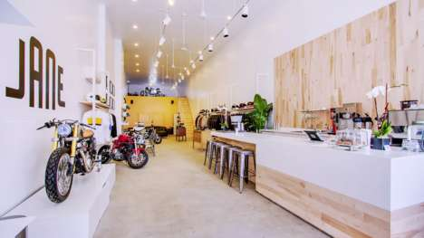 Motorcycle Shop Coffee Bars - 'Jane Motorcycles' Sells Parlor Coffee Alongside Bikes and Gear