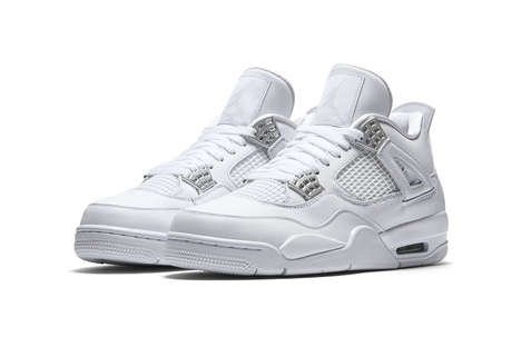 Reworked Silver-Gilded Sneakers - The New Air Jordan 4s are a Rework of a 2005 Release