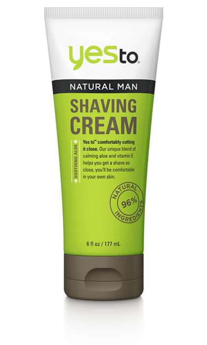 Skin-Balancing Shaving Creams - The Yes To Natural Shaving Cream is an Affordable Alternative