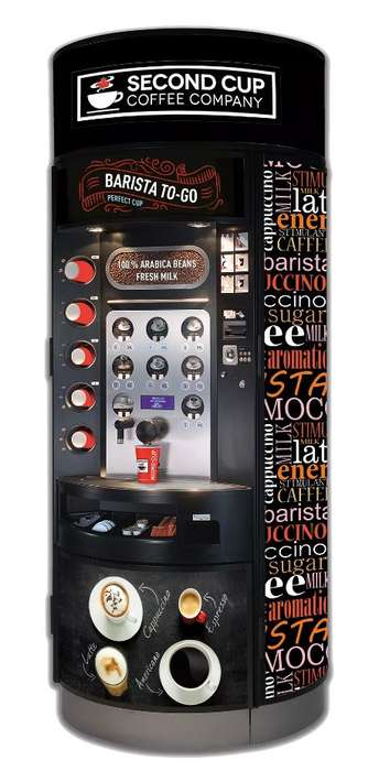 Craft Coffee Vending Machines - Second Cup's Barista-to-Go Concept Allows for Self-Serve Orders