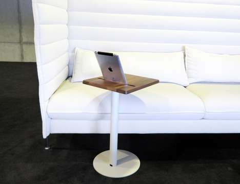Dedicated Technology Tables - The 'Nomad' Tablet Table Docks a Tablet for Optimal Viewing
