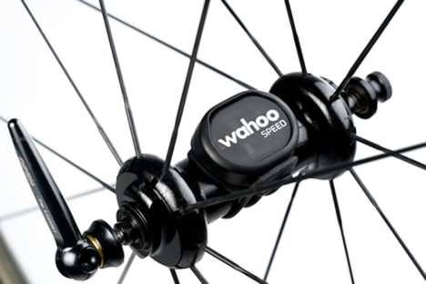 Cycling Data Bike Attachments - The Wahoo RPM Cycling Speed Sensor Captures Data While Riding