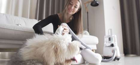 Mess-Free Dog Grooming Devices - The 'GroomPal' Cuts and Vacuums Fur without Hurting the Dog