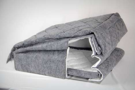 Collapsible Dog Bed Houses - The 'Furfort' is a Portable Dog Bed That Can be Used in Multiple Ways