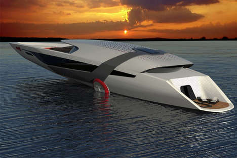 Eco Electric Yacht Boats - The Tesla Model Y Yacht is Entirely Self-Sustaining and Eco-Friendly