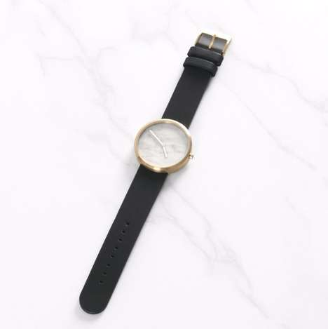 Granite-Embedded Watch Faces - The New Maven Watches Collection Comes with Genuine Marble