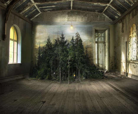 Eerily Enchanting Photo Montages - Suzanne Moxhay's Series Combines Nature with Abandoned Scenes