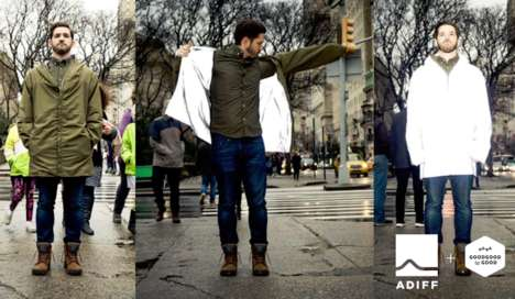 Charitable Reflective Jackets - ADIFF Offers Reversible Jackets for Socially Conscious Consumers