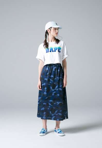 Camouflaged Japanese Womenswear - This Women's BAPE Series Features Bold Branding and Masculine Cuts