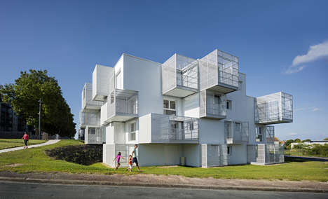 Abstract Public Housing - Poggi Architecture and More Architecture Teamed Up to Build 'White Clouds'