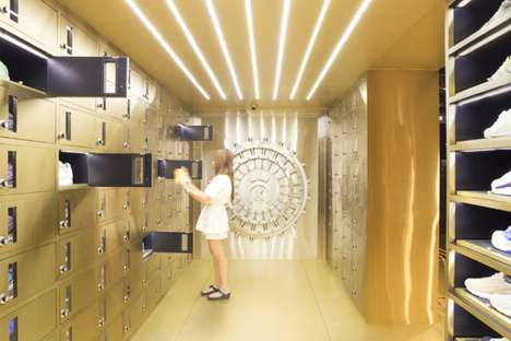 Vault-Themed Shoe Stores - The 24 Kilates Store Offers a Design Centered Around a Security Theme