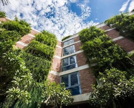 Vegetation-Covered Hotels