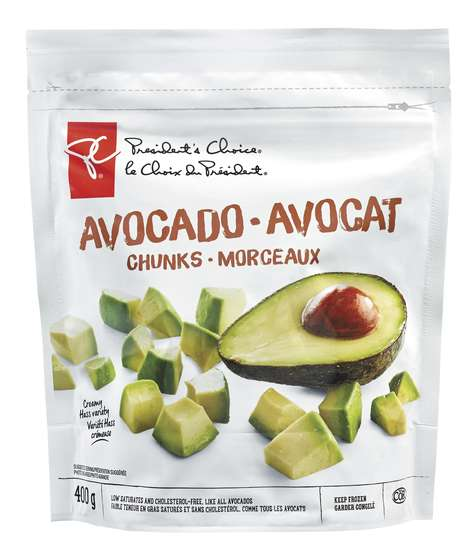 Pre-Sliced Avocado Snacks - These PC Avocado Chunks Can Be Used for Fresh Salads or as a Garnish