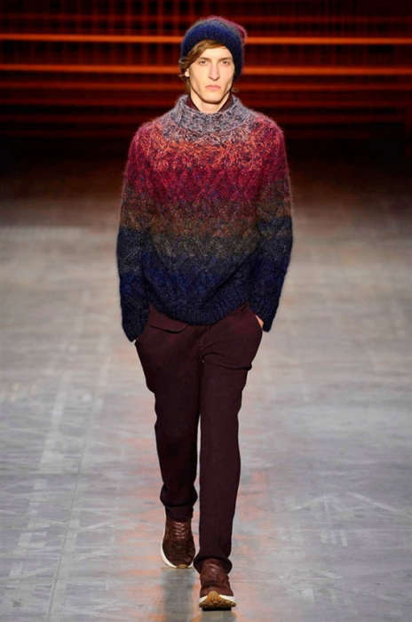 Luxe Ombre Knitwear - The New Missoni Fall/Winter Collection Debuted on the Runway in Milan