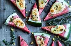Cheesy Watermelon Pizzas