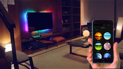 Customizable Smart LED Strips - The Qube LED Light Strip Responds to Preset Actions and More