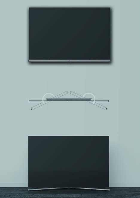 Rotating Bracket TVs - The 'i-V' OLED Smart TV is Easy to Assemble and Start Using