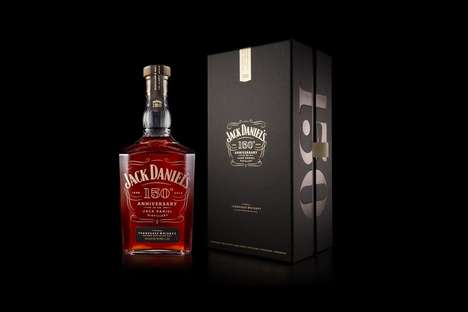 Historical Whiskey Bottle Redesigns - This New Bottle Marks Jack Daniel's 150th Anniversary