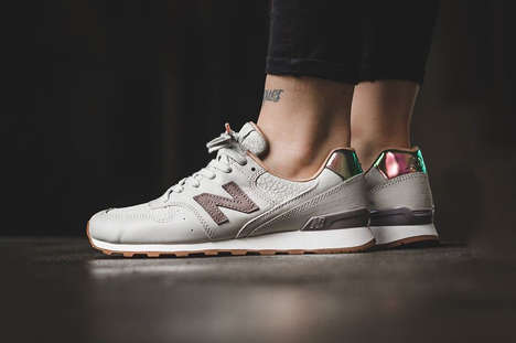 Feminine Iridescent Sneakers - The 'Powder' New Balance 996s Feature Luminous Accents on the Heels