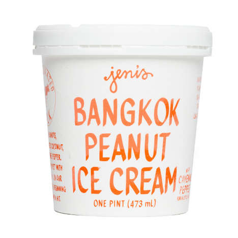 Thai Peanut Ice Creams - This Frozen Dessert from Jeni's Boasts a Unique Asian Ice Cream Flavor