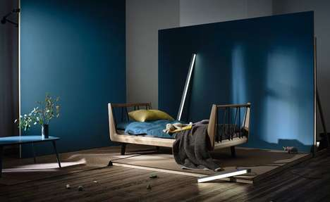 Multi-Stage Child Beds - The UUIO 'VII' Children's Bed Grows Up with Kids in a Stylish Manner