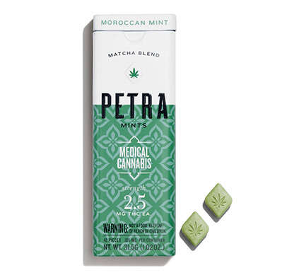 Medical Cannabis Mints - Kiva Confections' Moroccan Matcha Mints Include a Small Dose of THC