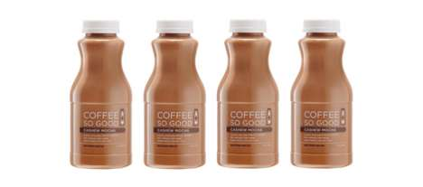 Nut Milk Cold-Pressed Coffees - The Coffee So Good Cashew Mocha Coffee Cold Brew Has No Additives