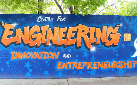 Faculty-Promoting Murals - This Toronto Graffiti Mural Highlights the Importance of Engineering